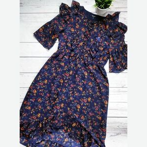 MADEWELL Ruffle Midi Dress Climbing Vine Floral 10